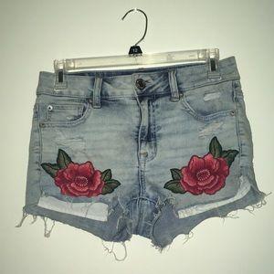 AE rose shorts
